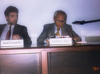 Juan Estadella and Adolfo Roca in Valencia (Spain), 2001.